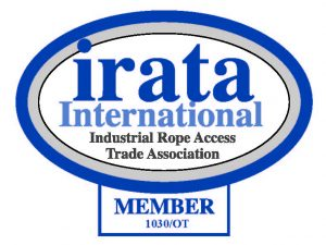 Industrial Rope Access Trade Association (IRATA) member certification.