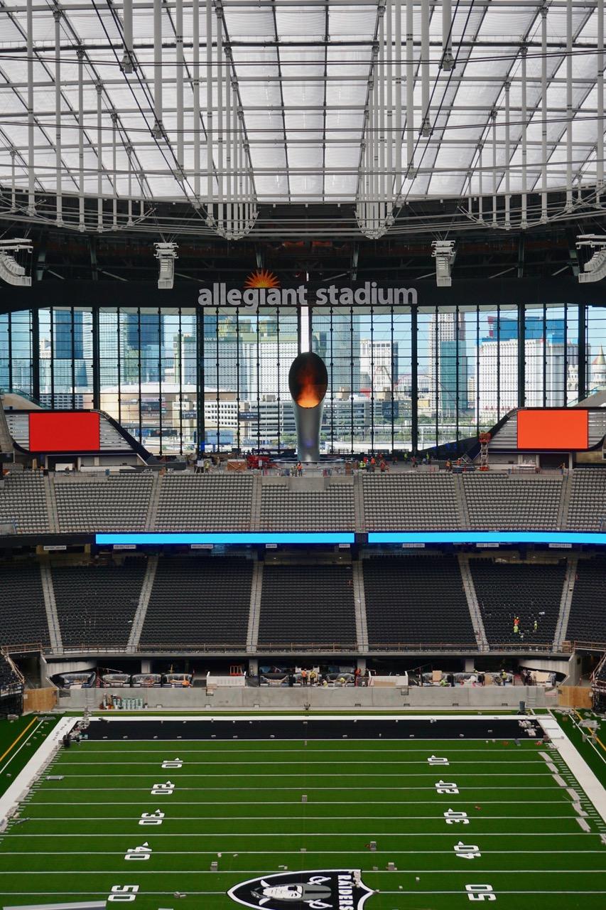 LED Flare Allegiant Stadium Las Vegas