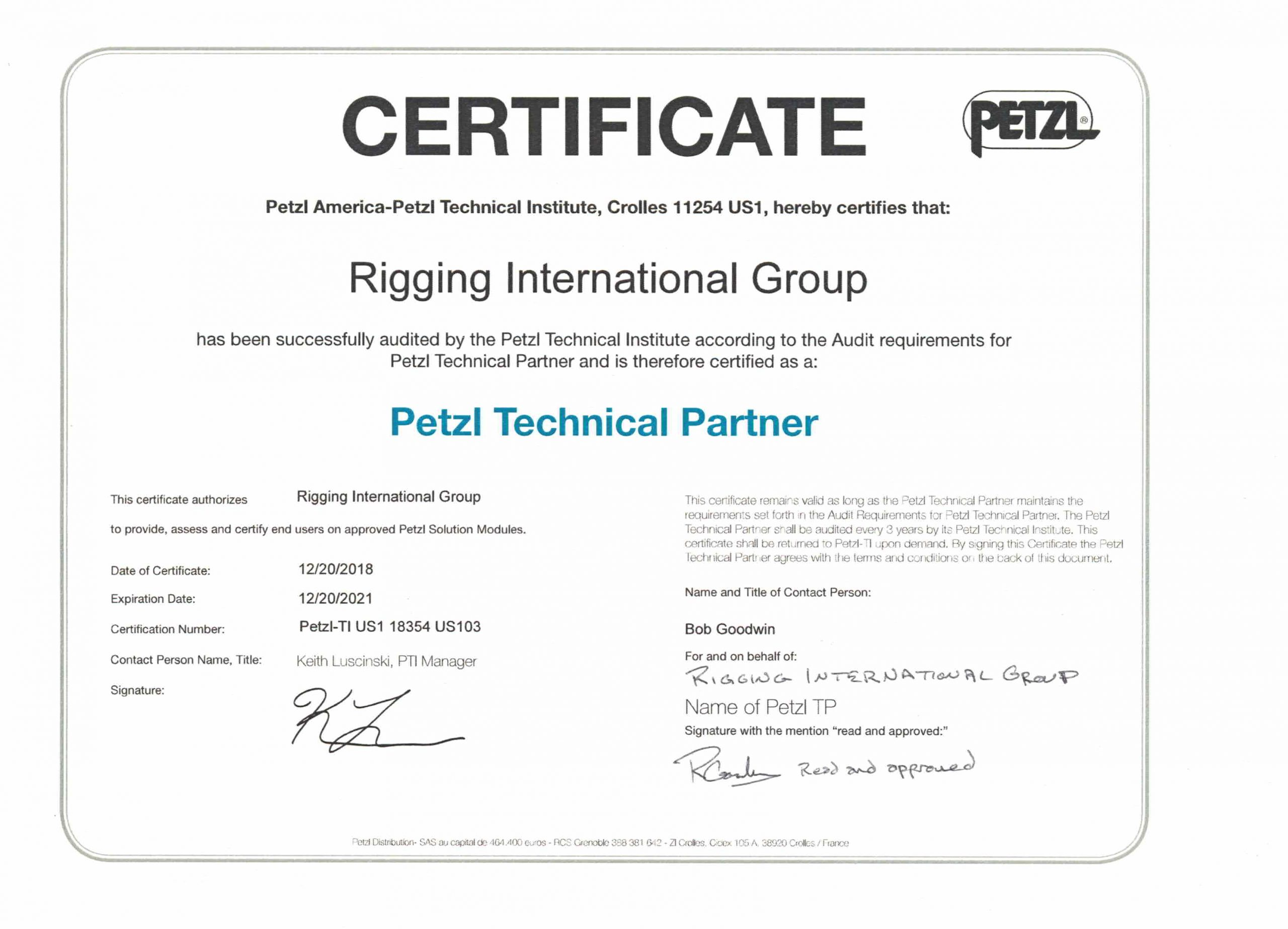 Petzl Technical Partner